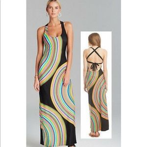 TRINA TURK CROSS BACK MAXI COVER UP DRESS